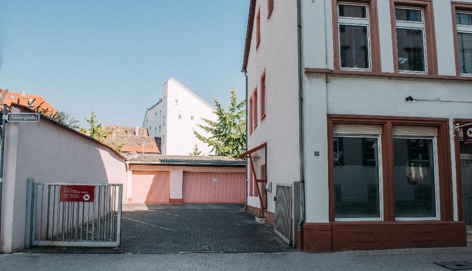 Einfahrt Gutenbergstraße